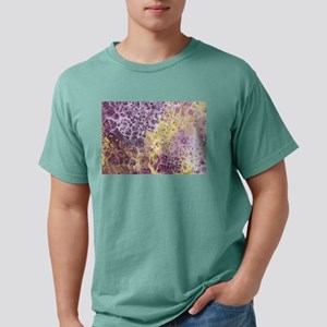 Purple and Yellow Abstract Mens Comfort Colors Shi