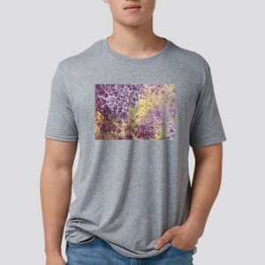 Purple and Yellow Abstract Mens Tri-blend T-Shirt