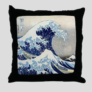 Hokusai - Kanagawa Throw Pillow
