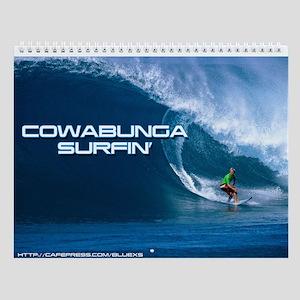 Cowabunga Surfin' Wall Calendar