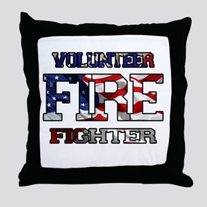 Volunteer Fire Fighter Throw Pillow