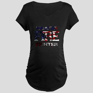 Volunteer Fire Fighter Maternity Dark T-Shirt