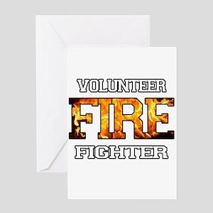 Volunteer Fire Fighter Greeting Card