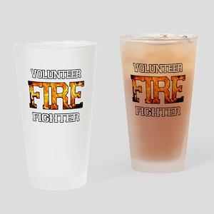 Volunteer Fire Fighter Drinking Glass