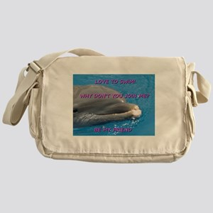 Love to swim, be my friend Messenger Bag