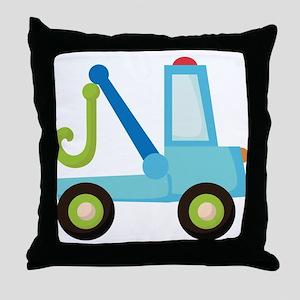 Tow Truck Construction Throw Pillow