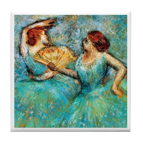 Degas - 2 Dancers 1905 Tile Coaster