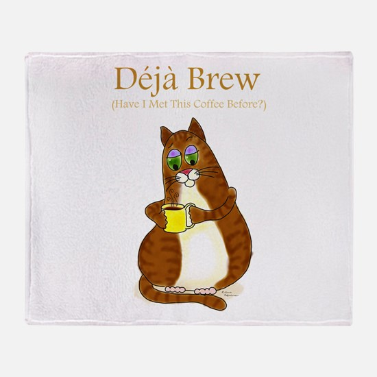 Deja Brew Throw Blanket