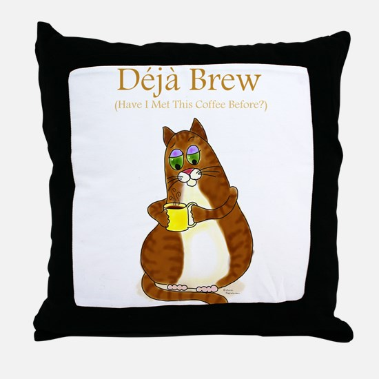 Deja Brew Throw Pillow