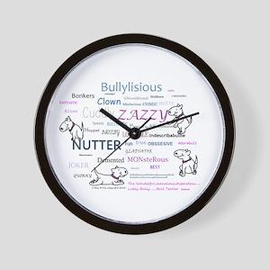 lubly bully original designs Wall Clock
