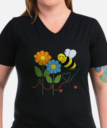 Bumble Bee Flowers Love T-Shirt