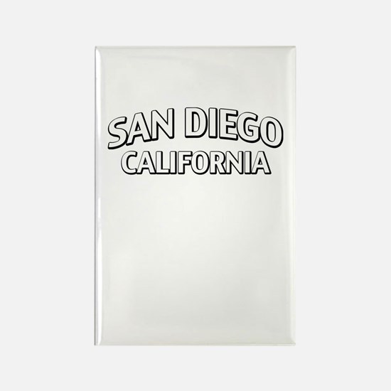 San Diego California Rectangle Magnet