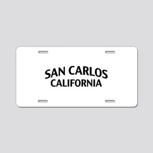 San Carlos California Aluminum License Plate