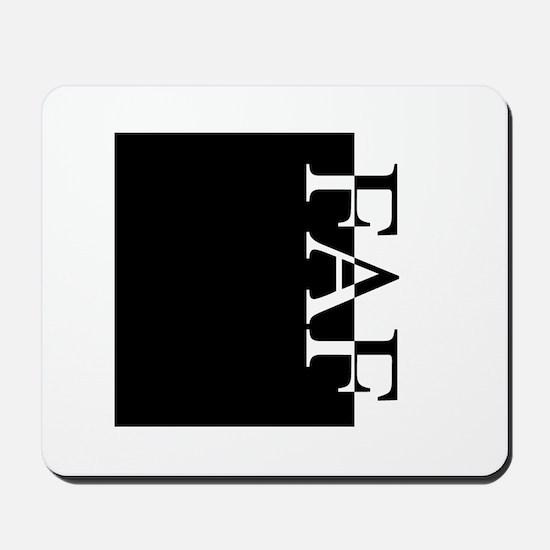 FAF Typography Mousepad