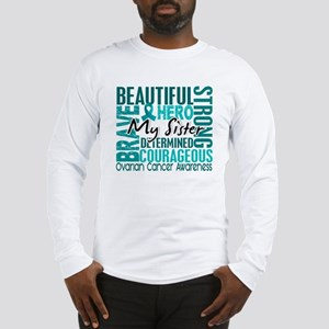 Tribute Square Ovarian Cancer Long Sleeve T-Shirt