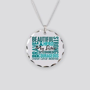 Tribute Square Ovarian Cancer Necklace Circle Char