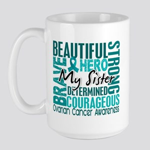 Tribute Square Ovarian Cancer Large Mug