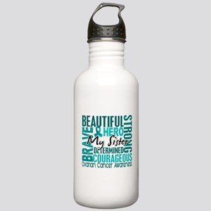 Tribute Square Ovarian Cancer Stainless Water Bott