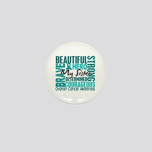 Tribute Square Ovarian Cancer Mini Button