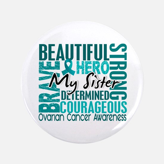 """Tribute Square Ovarian Cancer 3.5"""" Button"""