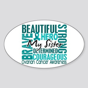 Tribute Square Ovarian Cancer Sticker (Oval 10 pk)