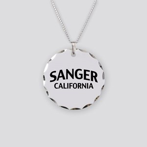 Sanger California Necklace Circle Charm