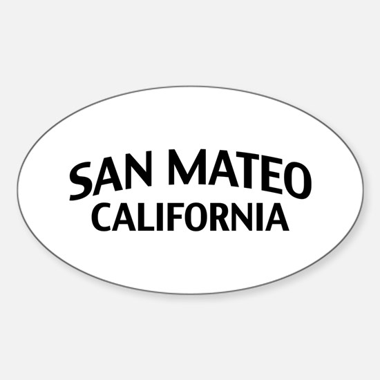 San Mateo California Sticker (Oval)