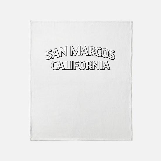 San Marcos California Throw Blanket
