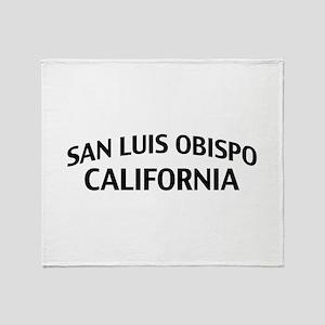 San Luis Obispo California Throw Blanket