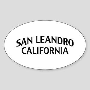 San Leandro California Sticker (Oval)