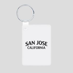 San Jose California Aluminum Photo Keychain