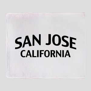 San Jose California Throw Blanket