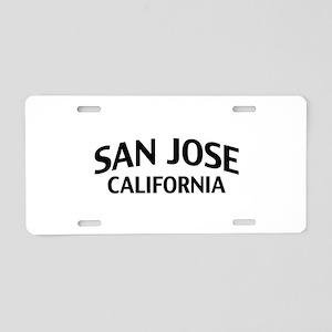San Jose California Aluminum License Plate