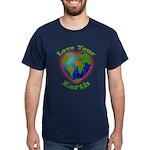 Love Your Earth Heart Dark T-Shirt