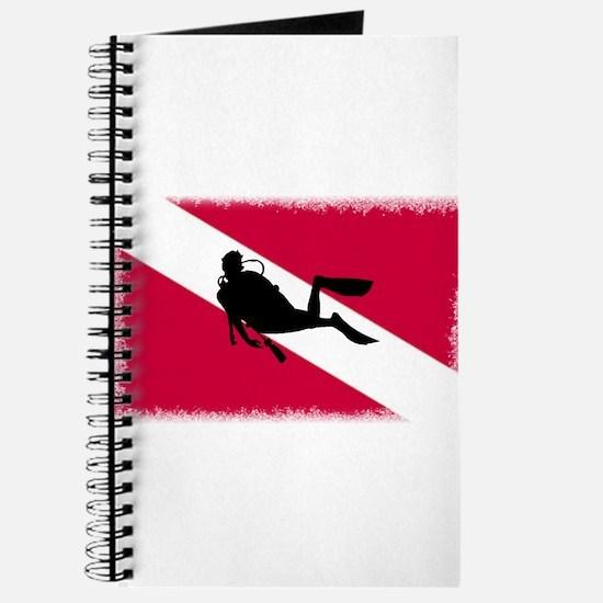 Scuba Diver & Flag Journal