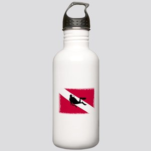 Scuba Diver & Flag Stainless Water Bottle 1.0L