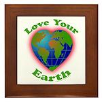 Love Your Earth Heart Framed Tile