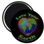 """Love Your Earth Heart 2.25"""" Magnet (10 pack)"""