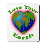 Love Your Earth Heart Mousepad