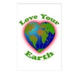 Love Your Earth Heart Postcards (Package of 8)