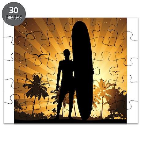 sunset surfer Puzzle