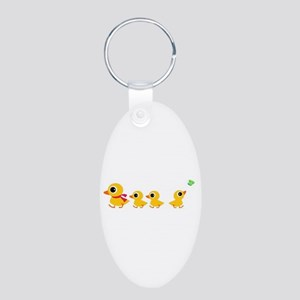 The distracted Duck Aluminum Oval Keychain