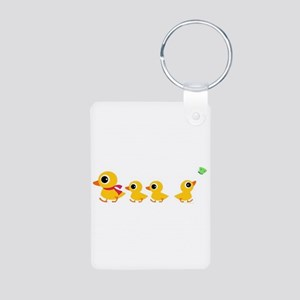 The distracted Duck Aluminum Photo Keychain