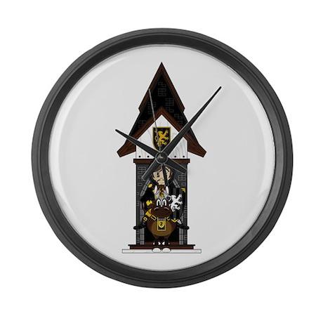 Medieval Knight on Horseback Large Wall Clock