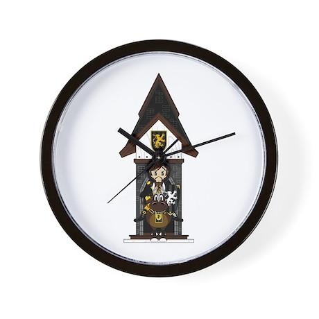 Medieval Knight on Horseback Wall Clock