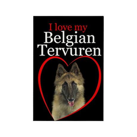 Belgian Tervuren Rectangle Magnet