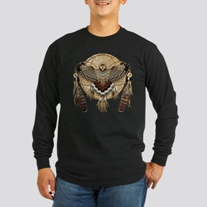 Red-Tail Hawk Dreamcatcher Long Sleeve Dark T-Shir