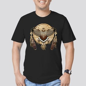 Red-Tail Hawk Dreamcatcher Men's Fitted T-Shirt (d