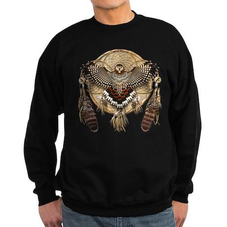 Red-Tail Hawk Dreamcatcher Sweatshirt (dark)
