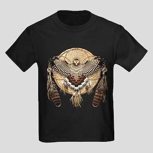 Red-Tail Hawk Dreamcatcher Kids Dark T-Shirt